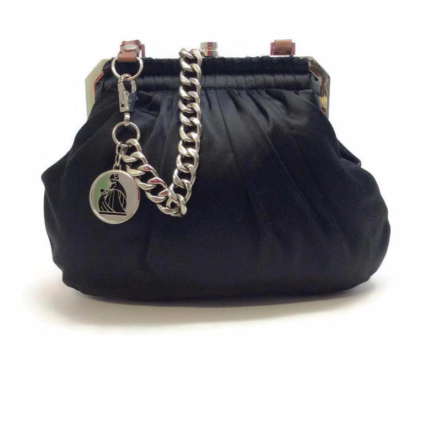 Lanvin Black Satin Shoulder Bag