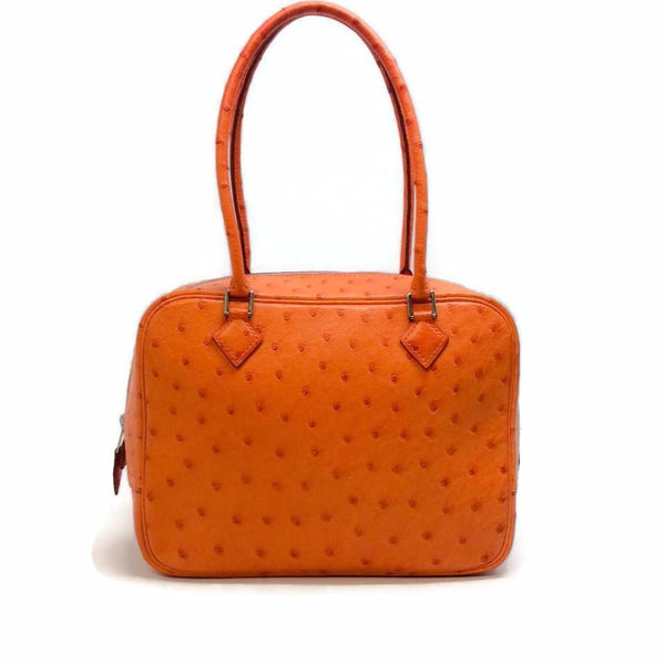 Hermès Orange Ostrich Leather Plume 20