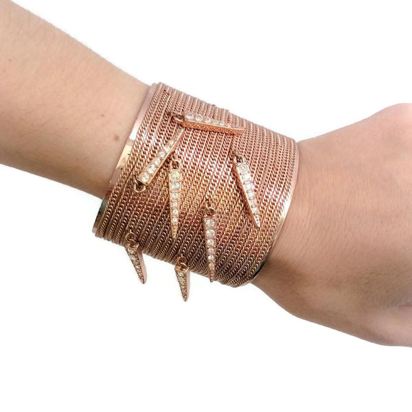 Givenchy Rose Gold Cuff with Chains
