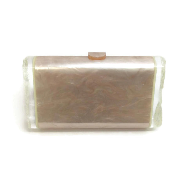 Edie Parker Mother Of Pearl Acrylic Lara Backlit Clutch, front