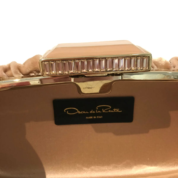 Oscar by Oscar de la Renta Blush Velvet Ruched Clutch