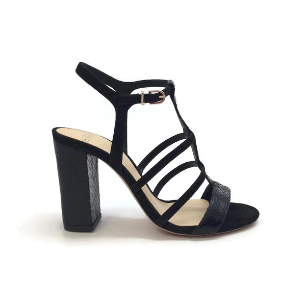 Alexandre Birman Black Caged Formal Shoe, side
