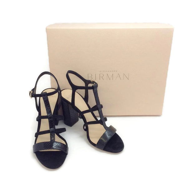 Alexandre Birman Black Caged Formal Shoe, with box
