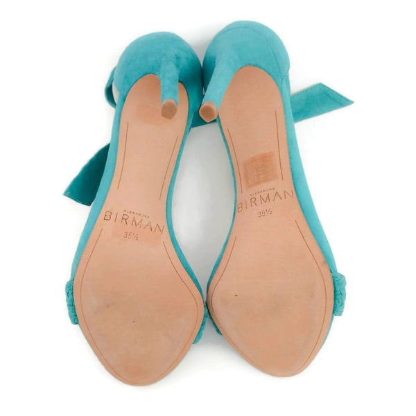 Alexandre Birman Aqua Rosemarie Pumps, bottoms, size 5.5