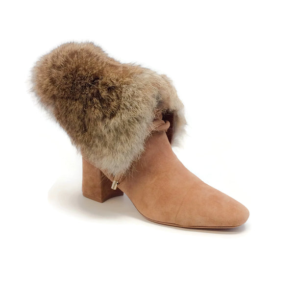 Betsey Fur Beige/Natural Boots by Alexandre Birman
