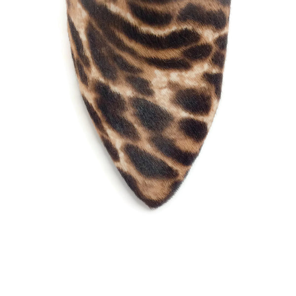 Lanvin Brown / Cream Leopard Animal Print Booties