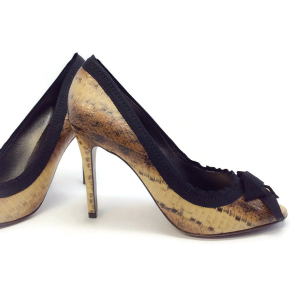 Lanvin Brown Chaussure Peep Toe Pumps