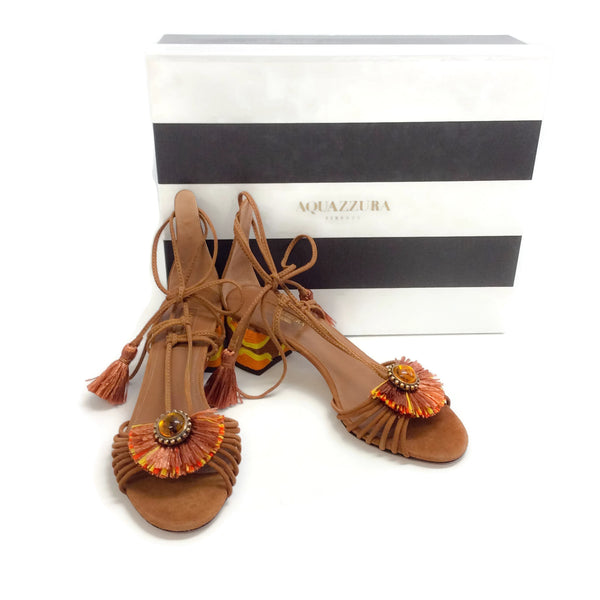 Aquazzura Tan Samba Sandals