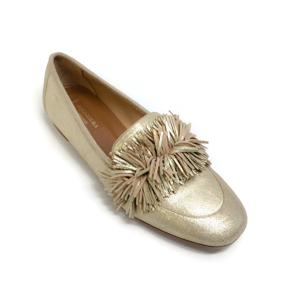 Aquazzura Gold Wildloafer Flats