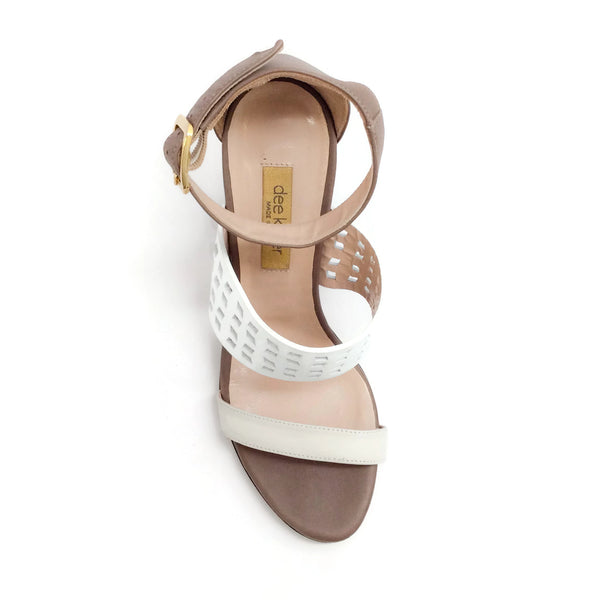 Dee Keller White Multi Maria Wedges