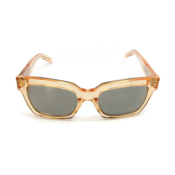 "Saint Laurent Clear Gold ""Bold 1"" Sunglasses"