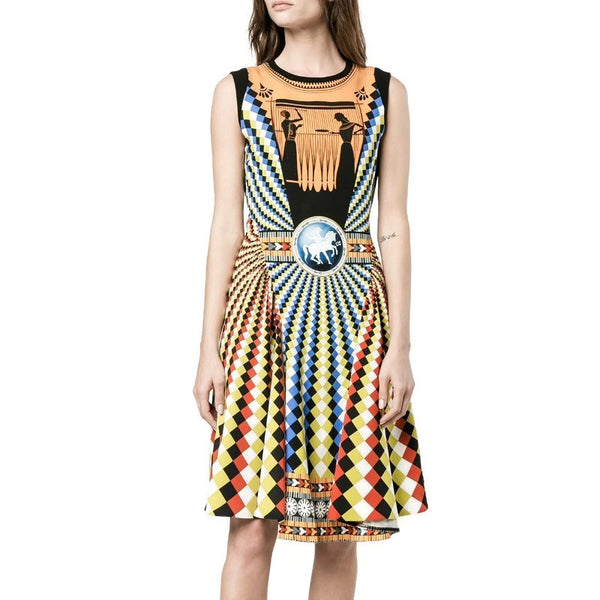 MARY KATRANTZOU Multicolor Eirene Skater Dress