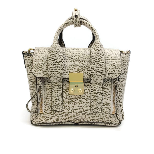3.1 Phillip Lim Mini Pashli Ivory / Brown Leather Satchel