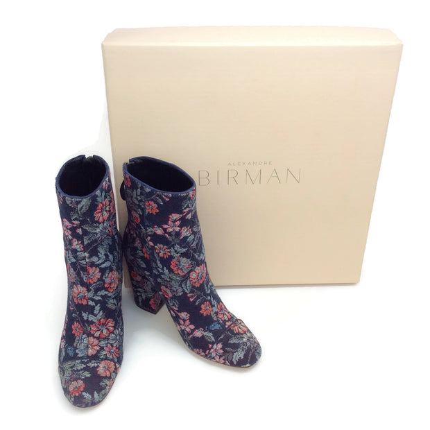 Alexandre Birman Navy / Nightshade Regina Booties