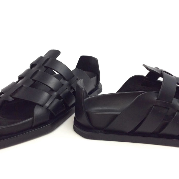 Rick Owens Black Flat Sandals