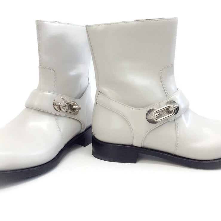 Balenciaga Light Gray Maillon Ankle Boots/Booties