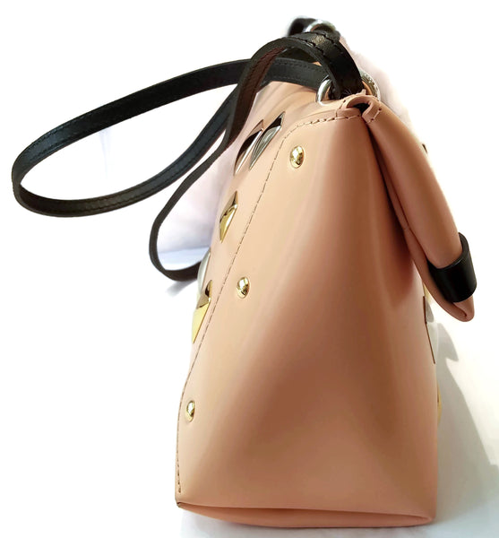 Louis Vuitton Sac Triangle Saumon Glazed Calfskin Leather Shoulder Bag