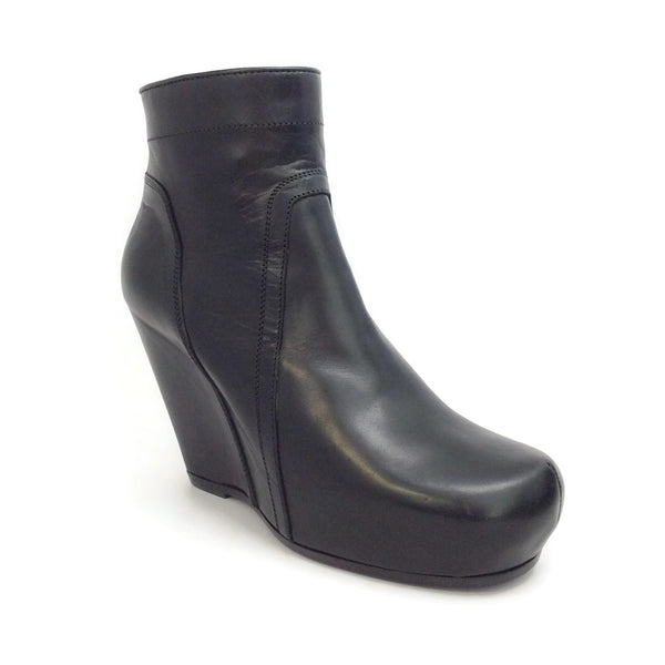 Rick Owens Black Classic Wedge Ankle Boots