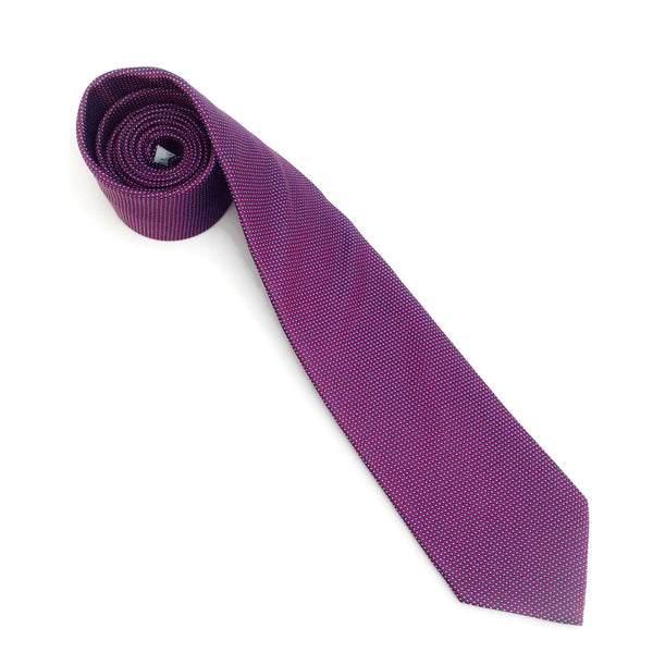 Eton Burgundy Blue Silk Tie