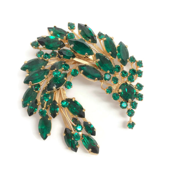 Dolce&Gabbana Green / Gold Spray Brooch