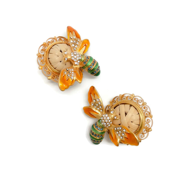 Dolce&Gabbana Bee Clip-on Earrings