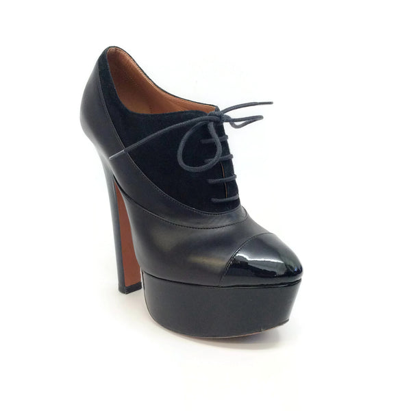 ALAÏA Black Oxford Platforms
