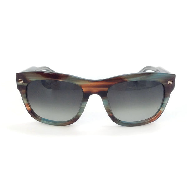 Etro Striped Petrol Et605s Sunglasses