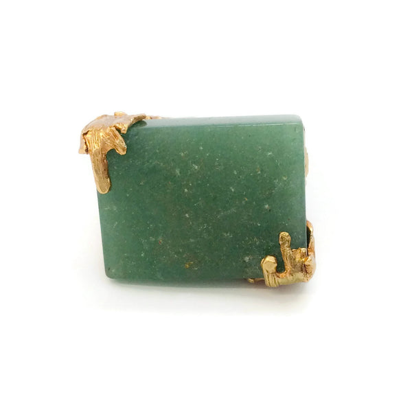 Saint Laurent Aventurine Arty Square Ring