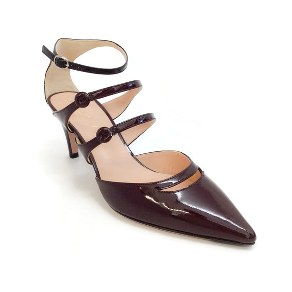 Derek Lam Oxblood Triple Strap Pumps