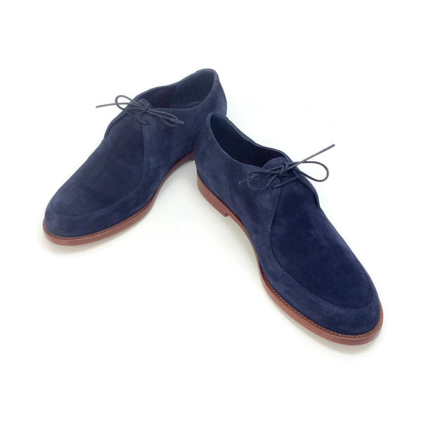 Mansur Gavriel Storm Blue Suede Oxfords
