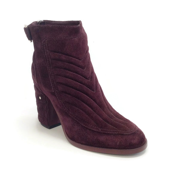 Laurence Dacade Oxblood Suede Quilted Boots