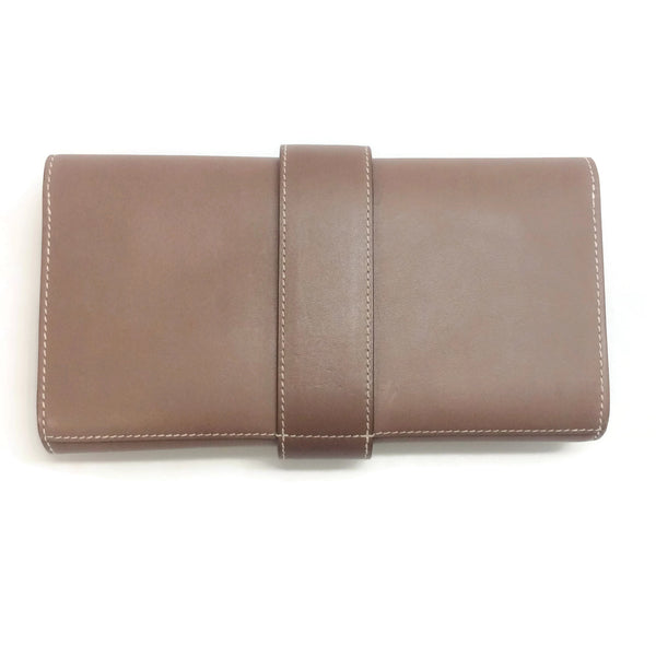 Hermès Medor 23 Tan Leather Clutch