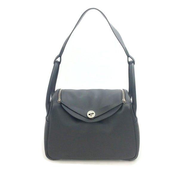 Hermès Lindy 30 Grey Leather Shoulder Bag