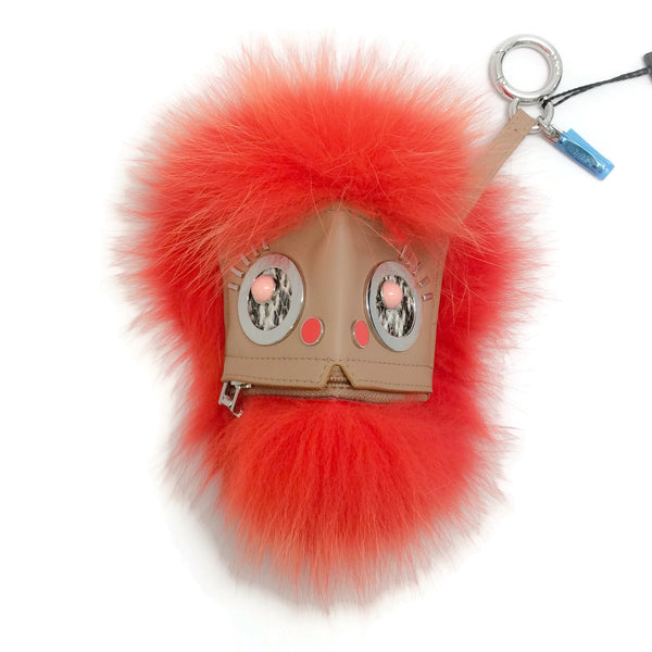 Fendi Tangerine Hypno Bug Fox Bag Charm