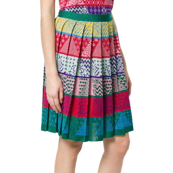 MARY KATRANTZOU Red/Green/Purple Multi Mandy Skirt