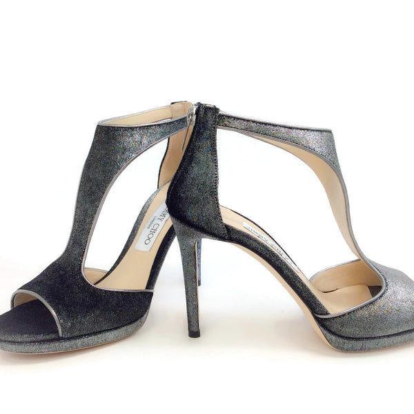 Jimmy Choo Anthracite Velvet Lana 100 Pumps