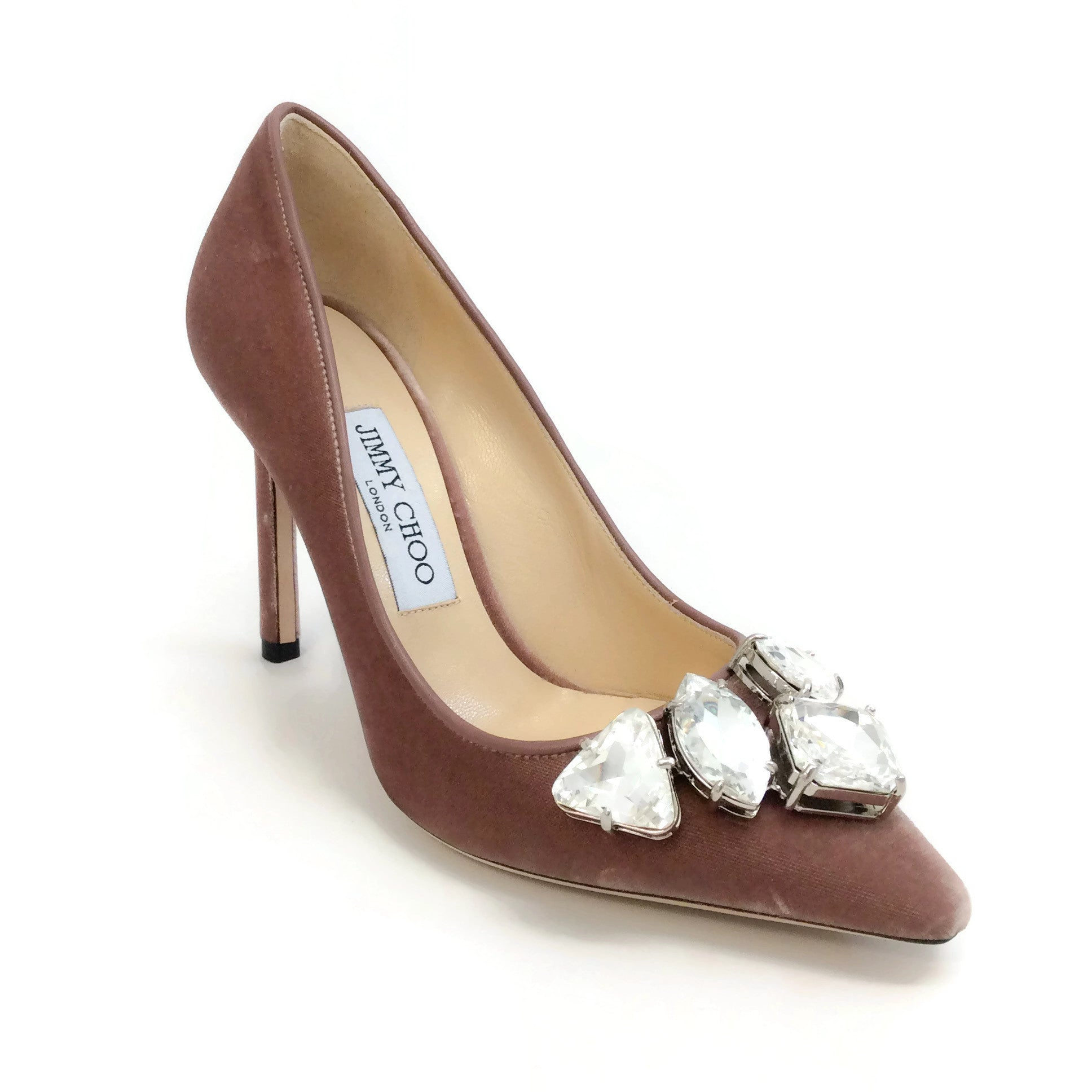 Jimmy Choo Ballet Pink Velvet Marvel 100 Pumps