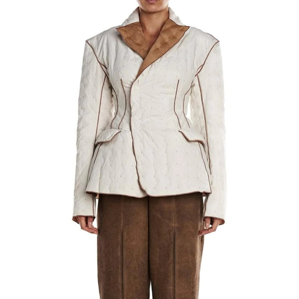 Phaedostudio Ivory/Bronze Outline Jacket Blazer