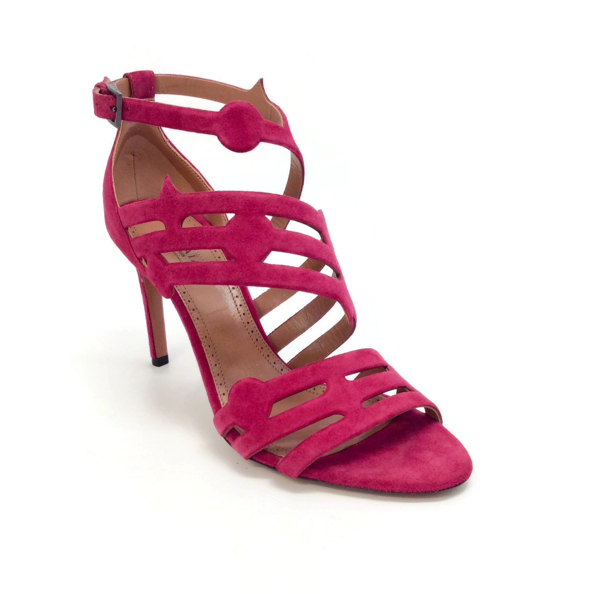 ALAÏA Raspberry Cage Sandals
