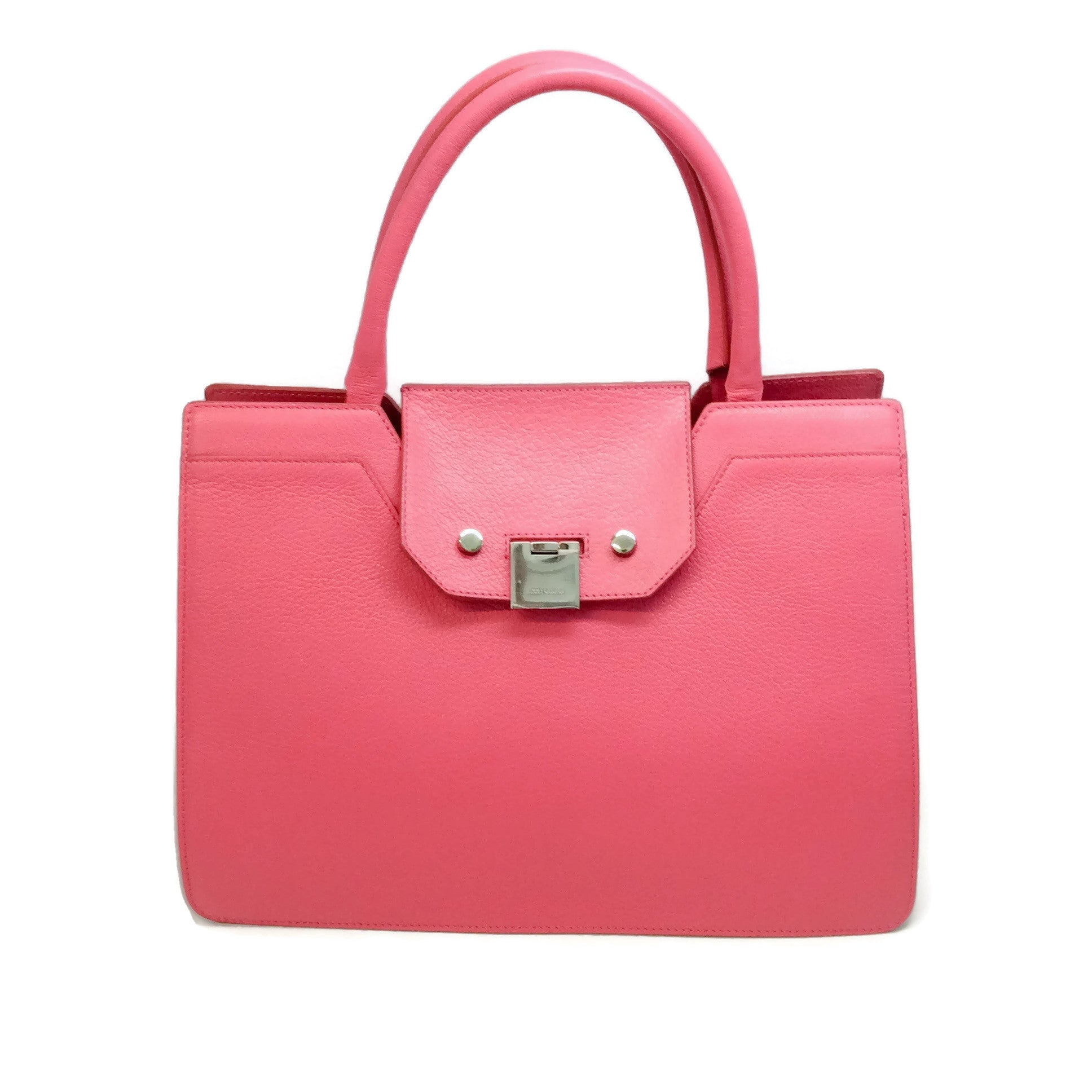 Jimmy Choo Rebel Flamingo Leather Tote
