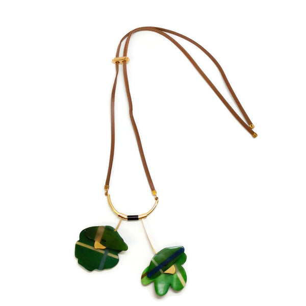 Marni Green Flower Pendant Necklace