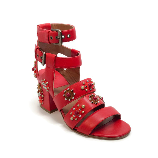 Laurence Dacade Red Rosianne Sandals