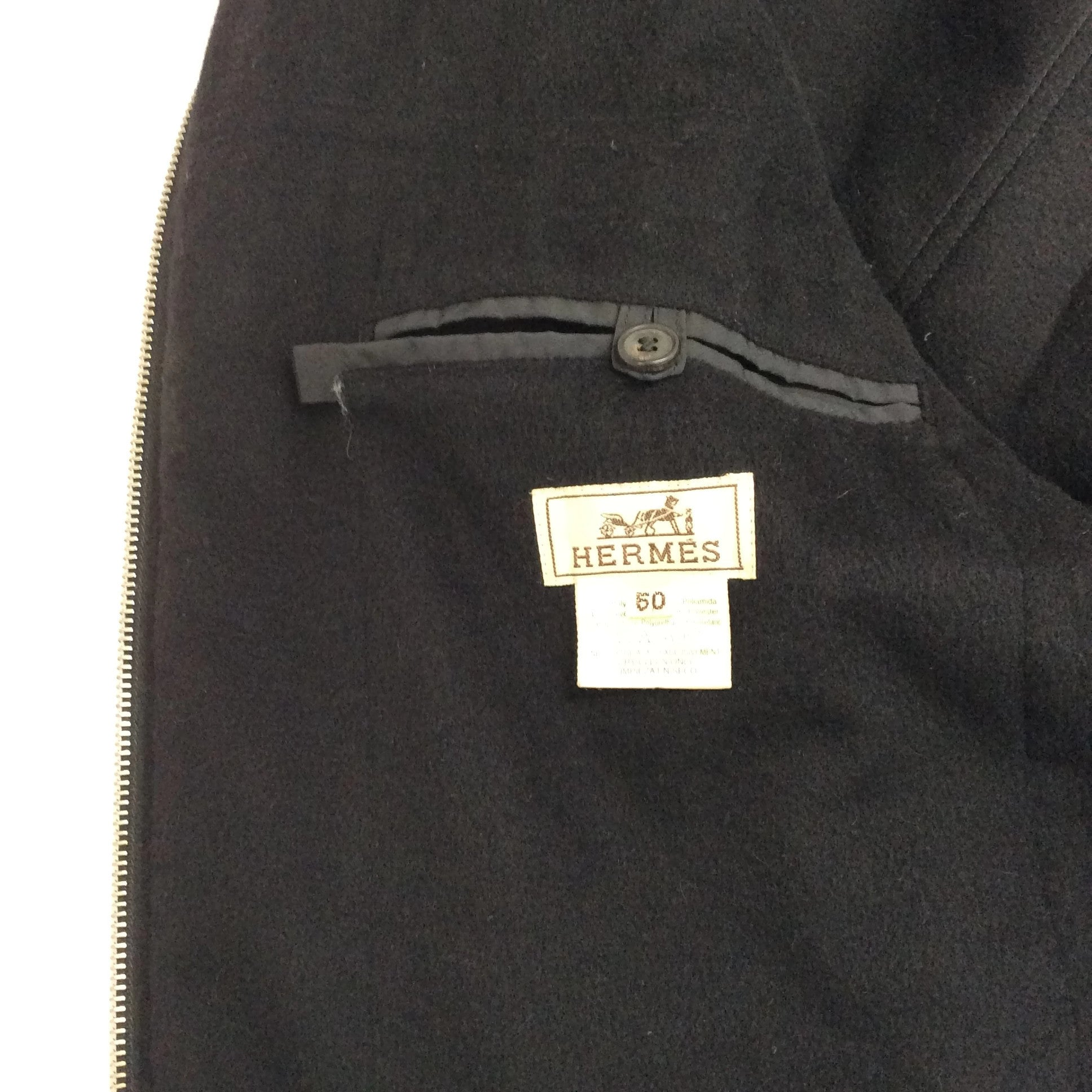 Hermes Wool and Cashmere Lined Windbreaker Jacket