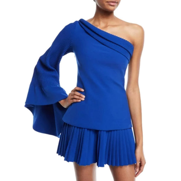 Brandon Maxwell One-shoulder Cobalt Blue Top