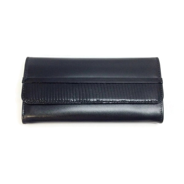 Lanvin Black Small Continental Flap Wallet