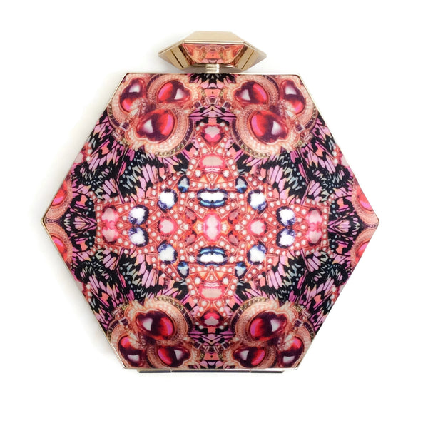 BVLGARI Matthew Williamson for Bulgari 2011 Pink Caleido Silk Minaudiere