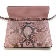 Gucci Jackie O Pink Python Skin Leather Bag