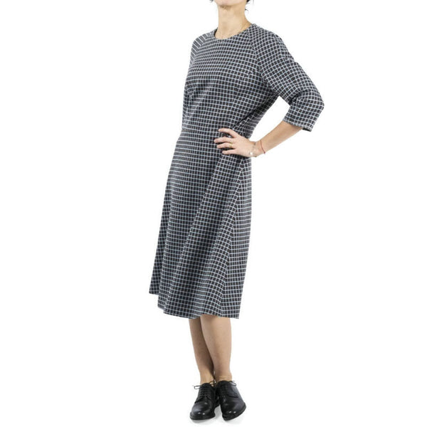 Marni Brown / Sky Blue Plaid Poplin Dress