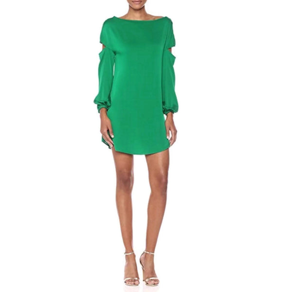 MILLY Green Dahlia Dress