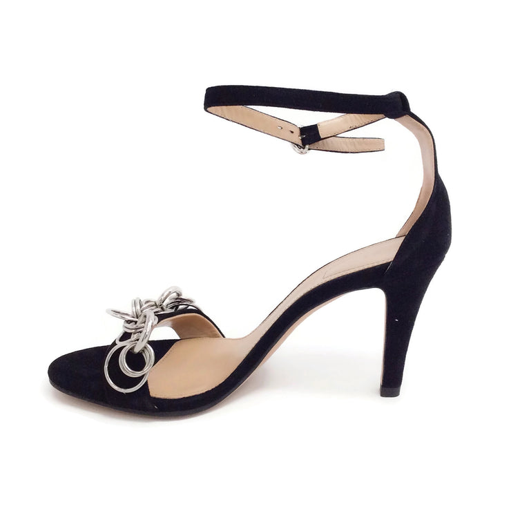 Chloé Black / Silver Reese Sandals